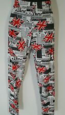 Women Girls Cotton Flag Print Leggings Tight One Size Fit most Causal Wear Event