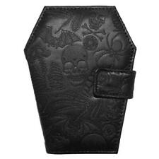 Skull Wallet Womens Horror Coffin Spider Bat Gothic Goth Halloween Black Gift