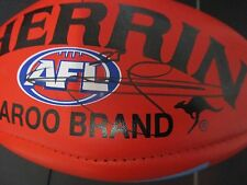 "Hawthorn - Lance ""Buddy"" Franklin signed red match issue sherrin football (BUPA)"