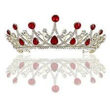 Tiara Pageant Bridesmaid Wedding Party Flower Girl Birthday Prom Dance Red Gold