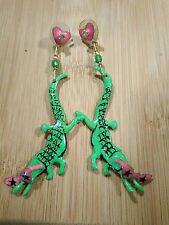 Lunch at the Ritz Long Dangling Alligator Earrings