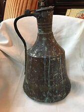 très beau et grand cocquemar  pichet broc en cuivre étamé  haute époque XVIIème