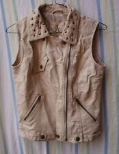 Ladies Studded Cream Gilet By Atmosphere Size 6 Urban Casual Rock Chic