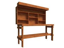 Folding Workbench Plans DIY Garage Storage Work Bench Table with Shelf Organizer