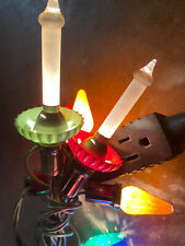 C6 Noma Christmas Antique Flame Tip Candle Light Vintage Tested Working 1950's