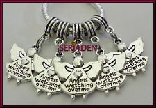 5 Angels Watching Over Me Dangle Charms Fits European Style Jewelry S107