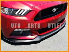 GT Style Carbon Fiber Front Bumper add-on Lip For Ford Mustang 2015-2017