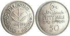PALESTINE  ,  ISRAEL  ,  50  MILS  ARGENT  1935