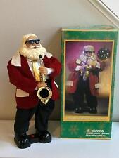 Gemmy Sax Playin' Santa Claus Musical in Box Needs Repair