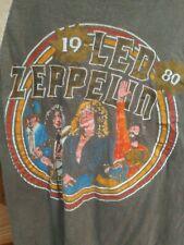 RARE Vintage Original LED ZEPPELIN 1980 T-Shirt John Bonham Tribute Rock Roll