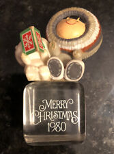 Vintage 1980 Eskimo Bear Ice Cube Hallmark Ornament Collectible Rare