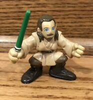Star Wars Galactic Heroes QUI-GON JINN Figure With Green Jedi Lightsaber