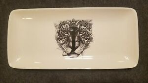 Williams Sonoma JEWELED JAGUAR J Initial Ceramic Mono Tray by Rory Dobner