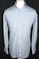 CHARLES TYRWHITT Mens Blue Fine Check 16/34in 41/86cm Long Sleeved Shirt