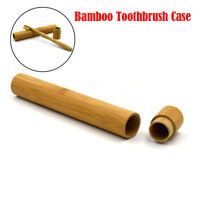 Portable Natural Bamboo Toothbrush Case Tube For Travel Eco Friendly Hand Made D
