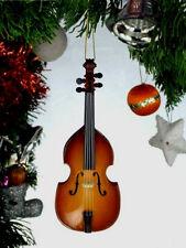 "UPRIGHT BASS WOODEN 4"" MUSICAL INSTRUMENT CHRISTMAS ORNAMENT"