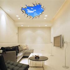 Popolare Adesivo Da Parete 3D PVC Blu cielo e bianco nuvole Murale Decalcomania