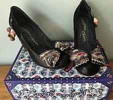 Irregular Choice Kurious Oranj Black Perspex High Heel Bow  Charm Shoes EU 40