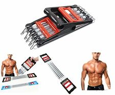 Body Building CHEST EXPANDER Strength Chest Pull Stretcher 5 SPRING Gym Fitness