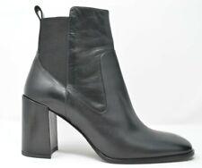 Via Spiga Women's Delaney Chelsea Block Heel Mid-Calf Boot Leather Black Size 10