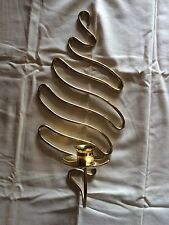 Partylite Serpentine Wall Sconce RETIRED - Party Lite Brass Candle holder