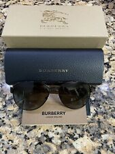 Burberry B3084 Polarized Bronze Metal Aviator Sunglasses