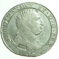 pci0291) Napoli regno Ferdinando IV grana 120 piastra 1805