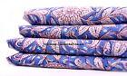 10 Yard Indian Hand Block Print Pure Cotton Blue Fabric Sanganeri Running Fabric