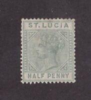St. Lucia stamp #27a, MHOG, VVF, wmk. 2, 1883 - 1898, SCV $17.50