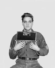 1960 ELVIS PRESLEY Army Mugshot Glossy 8x10 Photo Singer Print Poster