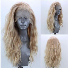 """24""""Front lace synthetic wig with small blonde curls"""