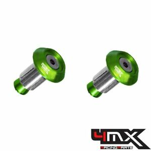 4MX Aluminium Green 14mm Bar End Plugs fits Husqvarna 250 CR 1995-1997
