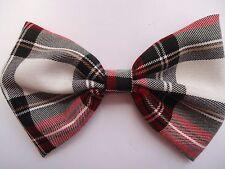 """XL Blanc/Rouge-tartan Big Dog Noeud Papillon/Collier Pour Chien Accessoire Chien-Cadeau - 7"""" X 5"""""""