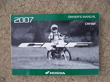 2007 Honda CRF80F Off-Road Motorcycle Owner Manual MORE CYCLE ITEMS IN STORE S
