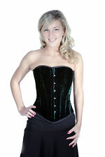 Shaper Corset Full Steel Boned Velvet Shaper Corset Dress Top SC80007D Sz34