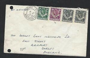 NORTHERN RHODESIA (PP0703B) 1954 QEII 1D2D6DX2  LUSAKA A/M TO ENGLAND