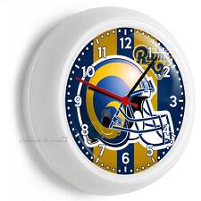 ST LOUIS RAMS NFL FOOTBALL TEAM LOGO WALL CLOCK MAN CAVE BOYS ROOM GARAGE DECOR