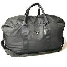 PRADA nylon handbag black padlock and key with Used 1745-10T51