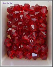 Swarovski 8 mm x 30 Bicone Crystal Bead - Ruby Red