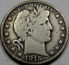 1915 Barber Half Dollar Choice Fine+... A Key Date & So Nice and 100% Original!!