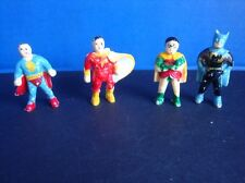 VINTAGE SUPERHEROS CAKE DECOR- BATMAN, ROBIN, SHAZAM, SUPERMAN