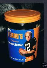RARE Terry Bradshaw peanut jar Pittsburgh Steelers