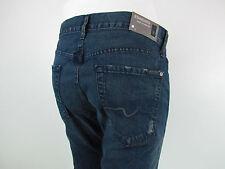 Seven 7 For All Mankind STANDARD STRAIGHT Jeans Men SZ 33 IN PRUSSIAN DARK BLUE