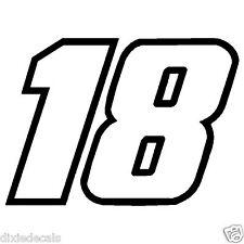 """6"""" Kyle Busch Number 18 Window Decals Vinyl Stickers 2-color Joe Gibbs Racing"""