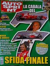 Autosprint 44 2008 Inserto Superleague. Rossi in auto in Rally e sulla F.1 SC.58