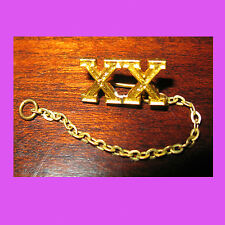 Official XX Roman Numeral 20 Year Adult Girl Scout Pin Chain Guard Multi=1 Ship