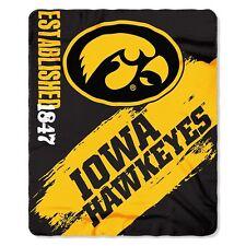 "The Northwest Company Iowa Hawkeyes Ncaa 50"" x 60"" Printed Fleece Throw Blanket"