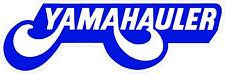 "#2261 (1) 6"" Yamahauler Yamaha Motorcycle Decal Sticker Laminated BW"