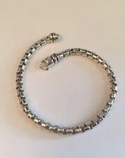 """David Yurman Large Box Chain Bracelet 5mm 9""""Long"""