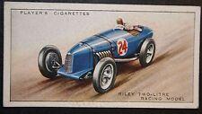 RILEY  Racing Car 1986 cc   Original 1930's Vintage Card  CAT E